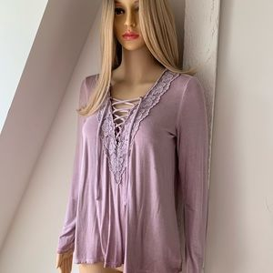 AEO AMERICAN EAGLE SOFT SEXY LACE TOP SZ S